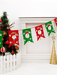 cheap -2.6M Christmas Xmas Hang Window Tree Part Decoration Pull Flag Christmas Red And Green Party Pub Banner