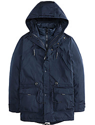 cheap -Men's Padded Coat,Casual Daily Solid-Polyester Long Sleeves
