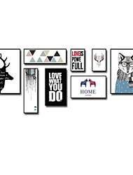 Недорогие -Мультипликация Рамка Art Предметы искусства,Пластик материал с рамкой For Украшение дома Предметы искусства в рамках Гостиная