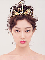 abordables -imitación perla aleación tiaras headpiece estilo femenino clásico