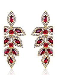 preiswerte -Damen Strass Tropfen-Ohrringe - Purpur Rot Tropfen Ohrringe Für Hochzeit Party