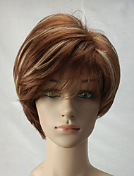 Women Synthetic Wig Capless Short Curly Blonde Highlighted/Balayage Hair Layered Haircut Celebrity Wig Natural Wigs Costume Wig