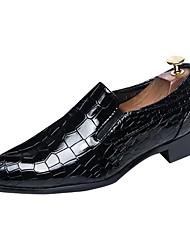 economico -Da uomo Scarpe Di pelle Primavera Autunno Scarpe formali Mocassini e Slip-Ons A quadri Per Casual Nero