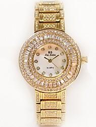 baratos -Mulheres Relógio de Pulso Japanês Aço Inoxidável Banda Amuleto Prata / Dourada / Ouro Rose
