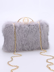 cheap -Women Bags Fur Crossbody Bag Zipper for Event/Party Casual All Seasons Black Gray Light Purple