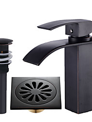 cheap -Faucet Set - Waterfall Oil-rubbed Bronze Centerset Single Handle One Hole
