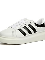 economico -Da uomo Scarpe PU (Poliuretano) Primavera Autunno Comoda Sneakers Lacci Per Casual Oro Bianco/nero White/Blue