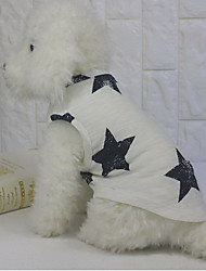 Недорогие -Собака Жилет Одежда для собак Звезды Белый Хлопок Костюм Назначение Лето На каждый день