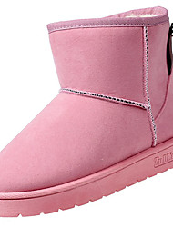 Women's Shoes Nubuck leather PU Suede Fall Winter Comfort Fashion Boots Boots Flat Heel Round Toe Mid-Calf Boots For Casual Blushing Pink