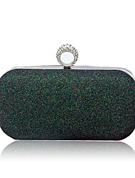 cheap -Women Bags PU Evening Bag Sequins for Wedding Event/Party All Seasons Champagne Silver Red Blushing Pink Dark Green