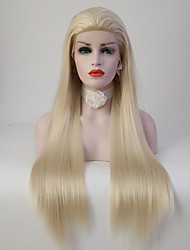 cheap -Women Synthetic Wig Lace Front Long Straight Light Blonde Natural Wigs Costume Wig
