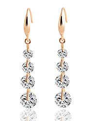 cheap -Women's Drop Earrings Cubic Zirconia Sweet Elegant Zircon Alloy Round Line Jewelry For Wedding Evening Party