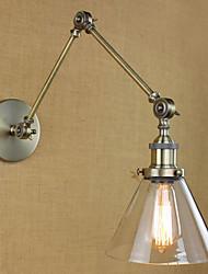 Недорогие -Тиффани / Деревенский стиль / Античный Металл настенный светильник 110-120Вольт / 220-240Вольт 40W