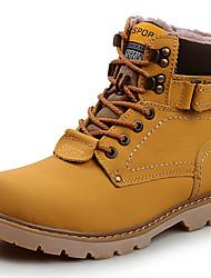 preiswerte -Damen Schuhe Echtes Leder Herbst Winter Schneestiefel Stiefeletten Springerstiefel Stiefel Blockabsatz Booties / Stiefeletten Für Normal