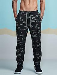 baratos -Homens Algodão Justas/Skinny Solto Calças Esportivas Chinos Calças - camuflagem