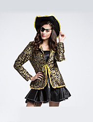 cheap -Pirate Cosplay Costume Masquerade Female Halloween Carnival Oktoberfest Festival / Holiday Halloween Costumes Black Print Vintage