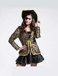 economico -Costumi da pirata Costumi Cosplay Stile Carnevale di Venezia Donna Halloween Carnevale Oktoberfest Feste / vacanze Costumi Halloween Nero