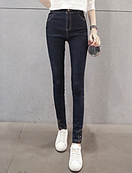 cheap -Women's Medium Solid Color Legging,Solid Fashion and leisure. jeans