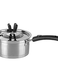 18cm non-magnetic composite bottom single handle soup pot with right Angle butterfly pot