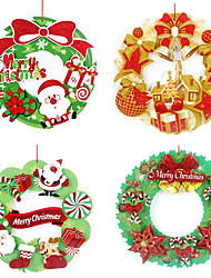 cheap -2pcs Christmas Decorations Wreaths & Garlands, Holiday Decorations 36