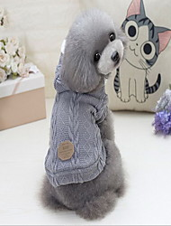 Cane Cappottini Maglioni Abbigliamento per cani Casual Solidi Grigio Rosso Blu Costume Per animali domestici