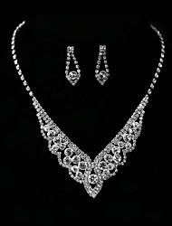 cheap -Women's Jewelry Set - Include Necklace Silver For Wedding Party Engagement