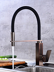 Centerset Swivel Ceramic Valve Electroplated , Kitchen faucet