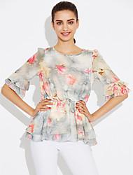 billige -Dame - Blomstret Bluse Rayon Polyester