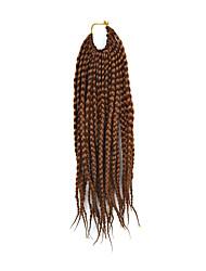 """страх замки волос кос афро плетеные гавана твист синтетические волосы темные каштановые 14 """"оплетка волос наращивание волос"""