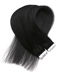 abordables -Neitsi Adhesivo Extensiones de cabello humano Recto Negro Marrón Extensiones Naturales Cabello humano Cabello Brasileño 1 paquete Mujer
