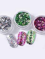preiswerte -bunte paillette shell bunte nail art dekoration 6 teile / satz