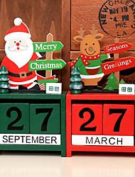 Недорогие -Рождественский календарь приключения Санта Клаус снеговик лося подарки рождественские украшения дом вечеринка деревянный календарь веселый новый год украшение случайный цвет
