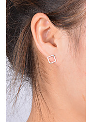 Women's Stud Earrings Jewelry Fashion Copper Square Jewelry For Daily Casual