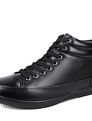 cheap -Men's Shoes Real Leather Cowhide Nappa Leather Winter Fluff Lining Driving Shoes Snow Boots Fashion Boots Bootie Sneakers Booties/Ankle