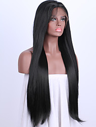 cheap -Synthetic Lace Front Wig Straight Synthetic Hair Black Wig Women's Medium Length / Long Lace Front Wig
