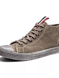 Da uomo Scarpe Cashmere Primavera Autunno Suole leggere Sneakers Lacci Per Casual Nero Grigio Cachi