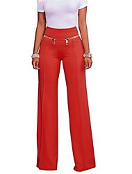 cheap -Women's Bootcut Chinos Pants - Solid High Rise