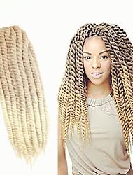 """cheap -Twist Braids Hair Braid Havana Ombre Braiding Hair 100% Kanekalon Hair Strawberry Blonde/Bleach Blonde 20"""" 1 Braiding Hair Hair Extensions"""