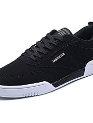 cheap -Men's Shoes Nubuck leather PU Spring Fall Comfort Sneakers Lace-up For Casual Black/Red Black/White Gray Black