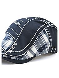 Недорогие -Для мужчин Винтаж На каждый день Сохраняет тепло Защита от ветра Берет Широкополая шляпа,Все сезоны Хлопок Пэчворк Вышивка