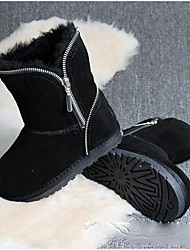 cheap -Girls' Shoes Feather/ Fur Winter Snow Boots Boots Booties/Ankle Boots for Casual Black Gray Army Green