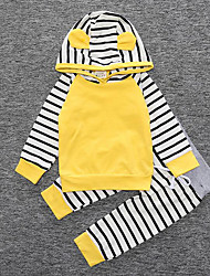 cheap -Girls' Striped Sleepwear-Cotton-Fall Long Sleeve