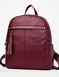 preiswerte -Damen Taschen PU Rucksack Reißverschluss für Normal Draussen Ganzjährig Blau Schwarz Rote Purpur