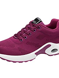 cheap -Women's Shoes Knit Spring Fall Comfort Athletic Shoes Walking Shoes For Casual Blushing Pink Red Purple Black