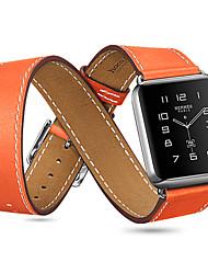 levne -Watch kapela pro Apple Watch Series 3 / 2 / 1 Apple Klasická spona Pravá kůže Poutko na zápěstí