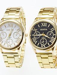 preiswerte -Herrn Armbanduhr Armbanduhren für den Alltag Quartz Edelstahl Band Gold