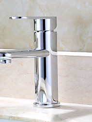 Moderne deckenmontiert Verstellbar with  Keramisches Ventil Ein Loch for  Chrom , Waschbecken Wasserhahn