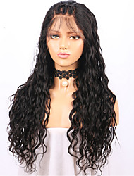 cheap -Women Human Hair Lace Wig Brazilian Human Hair Lace Front 130% Density Layered Haircut With Baby Hair Loose Wave Wig Black Medium Brown