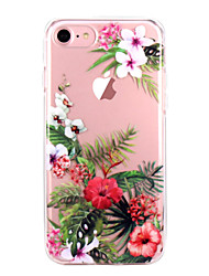 abordables -Funda Para Apple iPhone X iPhone 8 iPhone 8 Plus Ultrafina Transparente Diseños Funda Trasera Flor Suave TPU para iPhone X iPhone 8 Plus