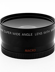58MM Wide Angle 0.45x Converter Lens w/ Macro Close-Up Attachment for Canon